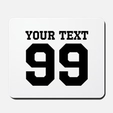 Custom Sports Jersey Number Mousepad For Fans