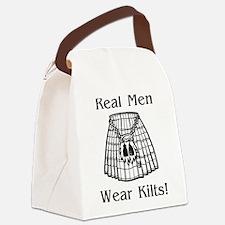 Real Men Wear Kilts Canvas Lunch Bag