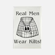 Real Men Wear Kilts Rectangle Magnet (10 pack)