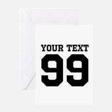 Custom Sports Coach Jersey Number Greeting Cards