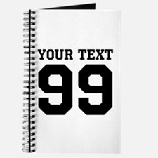Custom Sports Coach Jersey Number Journal