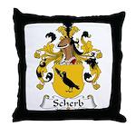 Scherb Family Crest  Throw Pillow