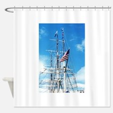 Funny Tall ship Shower Curtain