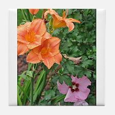 Lilys_Rose of Sharon Tile Coaster