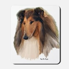 Rough Collie Art Mousepad