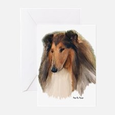 Rough Collie Art Greeting Cards (Pk of 20)