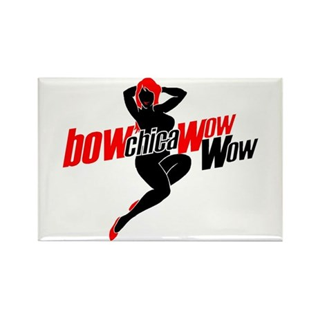 Bow-chica-wow-wow Rectangle Magnet