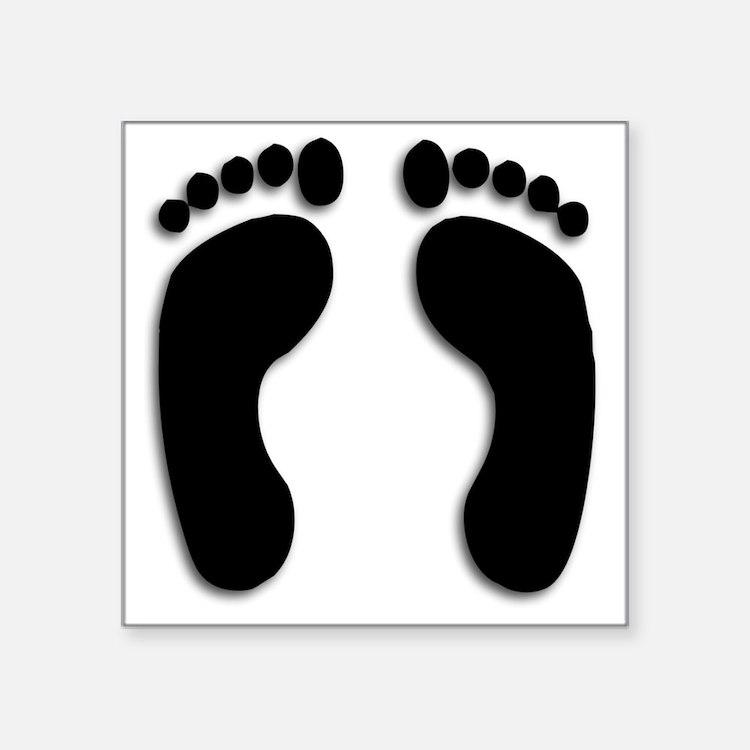 Bare foot Prints Sticker