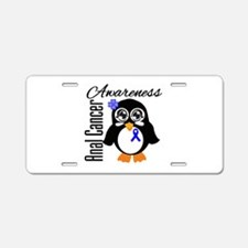 Anal Cancer Penguin Aluminum License Plate