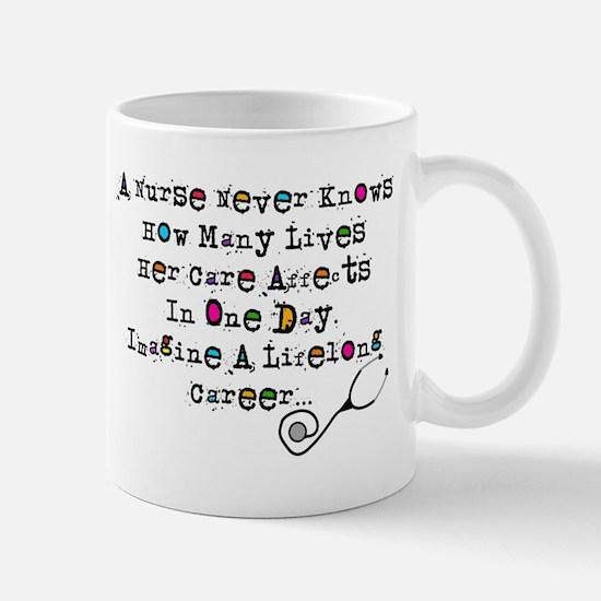 Retired Nurse Poem Mugs