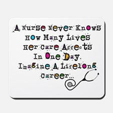 Retired Nurse Poem Mousepad