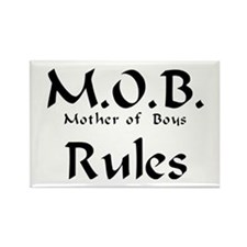MOB Rules Rectangle Magnet