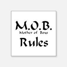 "MOB Rules Square Sticker 3"" x 3"""