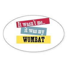 Wombat Oval Decal