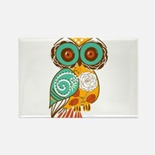 Who Me Owl Rectangle Magnet