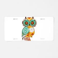 Who Me Owl Aluminum License Plate