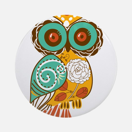 Who Me Owl Ornament (Round)