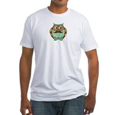 Fat Owl with Mustache Shirt