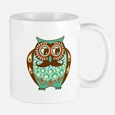 Fat Owl with Mustache Mug