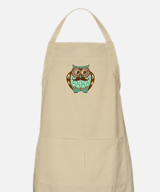 Fat Owl with Mustache Apron