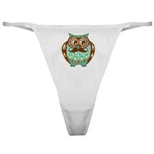 Fat Owl with Mustache Classic Thong