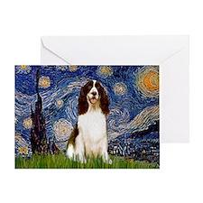 Starry Night & Springer Greeting Card