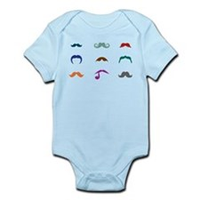Mustaches Infant Bodysuit