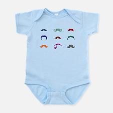 Mustaches Infant Bodysuit