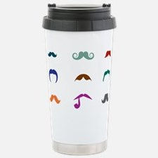 Mustaches Stainless Steel Travel Mug