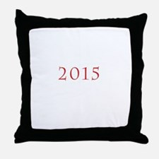 2015 Tab Red Throw Pillow