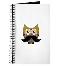 Golden Owl with Mustache Journal