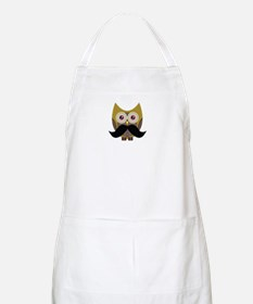 Golden Owl with Mustache Apron
