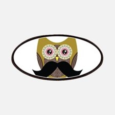 Golden Owl with Mustache Patch