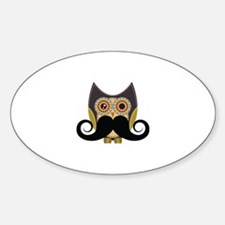 Dark owl with mustache Decal