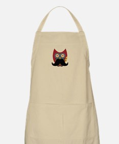 red owl with mustache Apron