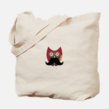 red owl with mustache Tote Bag