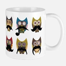 Cute owls with mustaches Mug