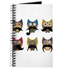 Cute owls with mustaches Journal