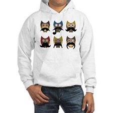 Cute owls with mustaches Hoodie