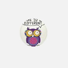Dare to be different Owl Mini Button