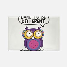 Dare to be different Owl Rectangle Magnet