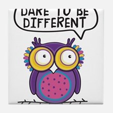 Dare to be different Owl Tile Coaster