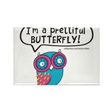 Im a prettiful butterfly Rectangle Magnet (100 pac