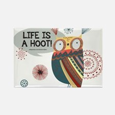 Life is a Hooot Owl Rectangle Magnet