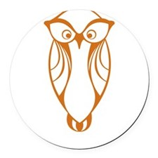 Nerds rule in style owl Round Car Magnet