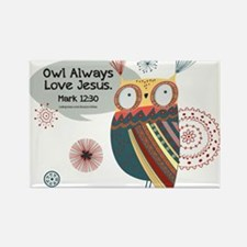 Owl Always Love Jesus Owl Rectangle Magnet