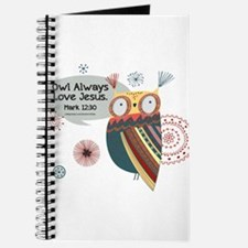Owl Always Love Jesus Owl Journal
