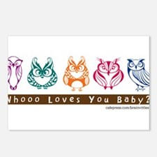 Whoo Loves you baby Owl Postcards (Package of 8)