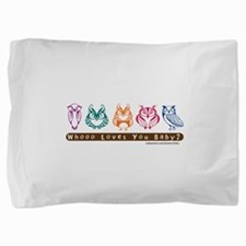 Whoo Loves you baby Owl Pillow Sham