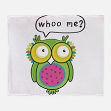 Whooo me Owl Throw Blanket